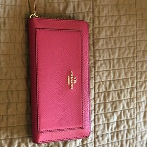 Pink leather Coach wallet